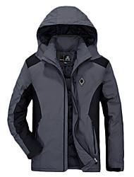 cheap -Men's Hiking Jacket Winter Outdoor Thermal / Warm Waterproof Top Skiing Climbing Red / Blue / Gray