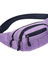cheap -Men's Bags PU Leather Canvas Fanny Pack Zipper Solid Color Bum Bag Daily Black Blue Purple Red