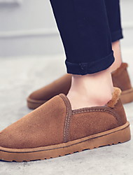 cheap -Men's Suede Shoes Suede Fall & Winter Boots Booties / Ankle Boots Black / Brown / Yellow / Snow Boots