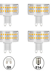 cheap -4pcs 9 W LED Corn Lights LED Bi-pin Lights 800 lm E14 G9 T 90 LED Beads SMD 2835 Cute Creative Dimmable Warm White White 220-240 V