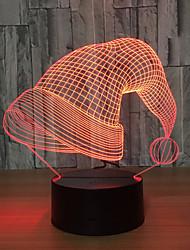 cheap -Christmas Hat Usb 3d Night Light Novelty Lamp 3d Led Luminaire Children Table Lamps
