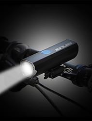 Недорогие -Светодиодная лампа Велосипедные фары Передняя фара для велосипеда огни безопасности Велоспорт Велоспорт Портативные Регулируется Прочный Легкость Литиевая батарея 300 lm Батарея USB слот Белый