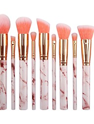 cheap -Makeup Brushes Set 10pcs Professional Synthetic Marble Makeup Brushes with Blush Foundation Highliter Brush Eeyshadow Concealer Eyeliner Lip Brush Face Travel Make Up Brushes with PU Leather Bag