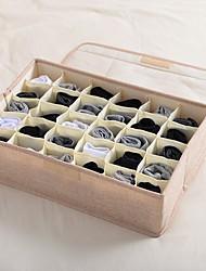 cheap -Underwear Socks Storage Organizer Drawer Divider 30 Cell Foldable Closet Drawer Organizer Storage Box Bin for Socks Bras Underwear Ties with Dust/Moisture Proof Cover
