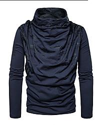 cheap -Men's Daily T-shirt - Geometric Black
