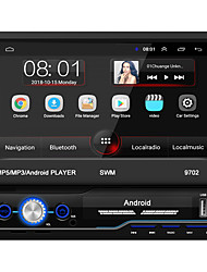 cheap -SWM 9702+4Led camera 7 inch 1 DIN Android 8.1 In-Dash Car DVD Player / Car MP5 Player / Car MP4 Player Touch Screen / GPS / Built-in Bluetooth for universal RCA / HDMI / FM2 Support MPEG / MPG / WMV