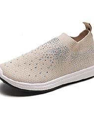 cheap -Women's Flats Flat Heel Round Toe PU Fall Black / White / Pink