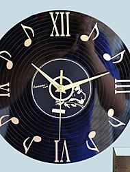 Недорогие -Современный современный стекло Круглый В помещении Батарея Украшение Настенные часы Зеркальное Нет
