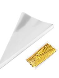 abordables -13 * 25cm 100pcs / sac triangle transparent cadeau de bonbons cadeau sac de nourriture pour la fête d'anniversaire de mariage bébé douche sac de bonbons sac de fleurs