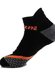 cheap -Compression Socks Athletic Sports Socks Running Socks 1 Pair Socks Ankle Socks Quick Dry Breathability Stretchy Running Outdoor Sports Solid Colored Classic Cotton Black Green
