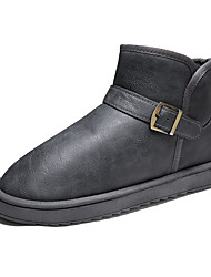 cheap -Men's Snow Boots Cotton Fall & Winter Casual Boots Walking Shoes Warm Black / Camel / Gray
