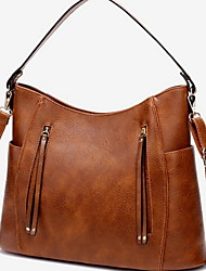 cheap -Women's PU Crossbody Bag Solid Color Brown