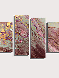 cheap -Print Rolled Canvas Prints Stretched Canvas Prints - Abstract Landscape Comtemporary Four Panels Art Prints