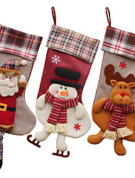 cheap -Cloth Christmas Candy Bag Holiday Decorations Christmas Decorations Christmas Figurines / Christmas Ornaments / Decorative Objects Cartoon / Decorative / Lovely 1pc