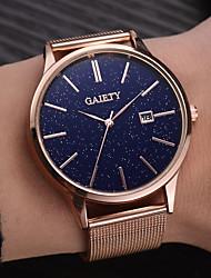 cheap -Men's Dress Watch Quartz Formal Style Stylish Black / Silver / Gold Calendar / date / day Large Dial Analog - Digital Casual Minimalist - Golden+Black Rose Gold Black / Rose Gold One Year Battery Life