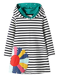 cheap -Kids Girls' Striped Dress Green