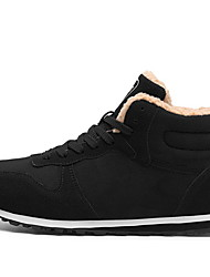 cheap -Men's Suede Shoes Suede Fall & Winter Boots Booties / Ankle Boots Black / Blue