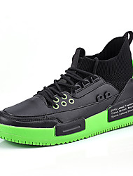cheap -Men's Comfort Shoes PU Spring & Summer / Fall & Winter Sporty / Casual Athletic Shoes Running Shoes / Fitness & Cross Training Shoes Non-slipping Color Block White / Yellow / Green