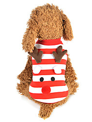 cheap -Dog Cat Vest Christmas Christmas Winter Dog Clothes Red Costume Polyester Canvas Mixed Material XS S M L XL