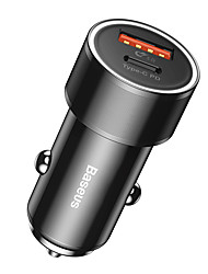 cheap -Baseus Small Screw Type-C PDUSB Quick Charge Car Charger 36W Black