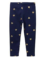 abordables -Enfants Fille Imprimé Pantalons Bleu Marine