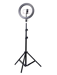cheap -Photography led self timer ring light 26cm metal dimmable photography / mobile phone ring light with 110 / 160cm tripod for makeup video studio