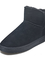 cheap -Women's Boots Snow Boots Flat Heel Round Toe Cotton Fall Black / Coffee