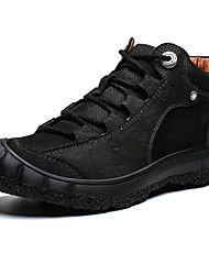 cheap -Men's Fall / Spring & Summer Casual / British Daily Outdoor Trainers / Athletic Shoes Hiking Shoes / Walking Shoes Nappa Leather Breathable Non-slipping Shock Absorbing Light Brown / Dark Brown