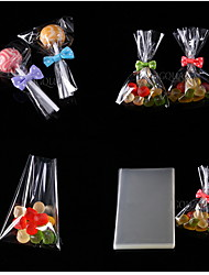 cheap -100pcs Clear Flat Cello Cellophane Treat Bags Good for Bakery, Cookies, Candies ,Dessert