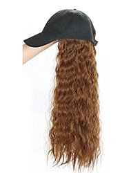 Недорогие -Парики из искусственных волос Волнистые Свободная часть Парик Длинные Темно-русый Бежевый Черный как смоль Средний коричневый Искусственные волосы 24 дюймовый Жен. Подарок 100