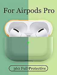 Недорогие -силиконовый чехол защитный чехол для apple airpods pro tws bluetooth наушники мягкий силиконовый чехол защитные чехлы