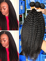 Недорогие -3 Связки Бразильские волосы Естественные прямые человеческие волосы Remy 300 g Человека ткет Волосы Плетение 10-24 Inch Нейтральный Ткет человеческих волос Натуральный Горячая распродажа Мода