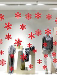 Недорогие -творческий снежинка рождество новый год поставки стикер стены стеклянные окна фон украшения статический стикер amj301 красный