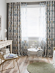 abordables -Fleur Intimité Deux Panneaux Rideau Chambre à coucher   Curtains