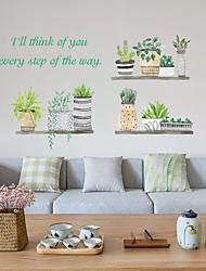 Недорогие -Ins свежее растение в горшке спальня кабинет гостиная отделка стен наклейки sk6057