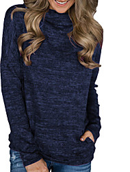 cheap -Women's Casual Sweatshirt - Solid Colored Black S