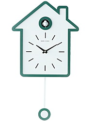 cheap -Wall Clock,Modern Contemporary Wooden Irregular Indoor