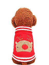 cheap -Dog Sweater Winter Dog Clothes Red Blue Costume Polyster Animal Deer Cosplay Christmas XS S M L XL