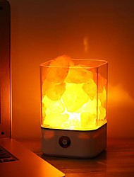 cheap -Crystal Light Natural Himalayan air purifying Salt Lamp Air Purifier Mood Creator Indoor Warm Light Table Lamp For Bedroom Lava Lamp USB  1pc