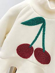cheap -Baby Girls' Basic Fruit Long Sleeve Dress White