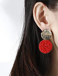 cheap -Women's Drop Earrings Braided Drop Artistic Dangling Natural Resin Earrings Jewelry Black / White / Orange For Stage Street Bar 2pcs