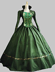 cheap -Classic Lolita Rococo Victorian 18th Century Dress Party Costume Masquerade Women's Girls' Satin Costume Green Vintage Cosplay Party Prom Sleeveless Knee Length Floor Length Ball Gown Plus Size