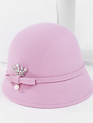 cheap -100% Wool Hats with Pearl / Crystals / Rhinestones 1pc Casual / Daily Wear Headpiece