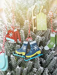 cheap -Christmas Tree Decoration Wood 5 Christmas