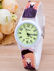 cheap -Kids Sport Watch Quartz Silicone White / Red / Green No Chronograph Cute New Design Analog New Arrival Fashion - White Purple Green One Year Battery Life