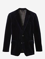 abordables -costume personnalisé en velours bleu marine
