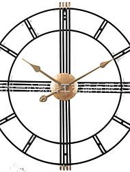 Недорогие -Современный современный Нержавеющая сталь Круглый Батарея Украшение Настенные часы Полированное Нет