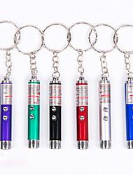 cheap -Key Chain Flashlights Mini 50 lm Laser LED 1 Emitters 1 Mode 3 in 1 Random Color Mini Portable Camping / Hiking Fishing Climbing / Aluminum Alloy