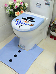 cheap -Christmas Cover For Toilet Seat Snowman Bath Mat Christmas Cute Home Decoration