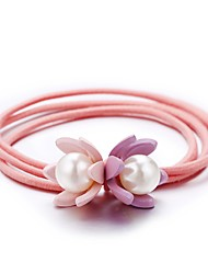 cheap -Women's Hair Ties For School Work Festival Resin Cord Blushing Pink